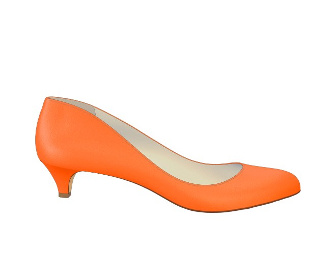 Orange Kitten Heels T7h51FNg