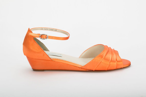 Orange Wedge Heels 1mKaht0Z