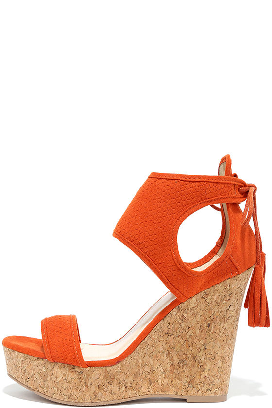 Orange Wedge Heels 5qQJ0FkP