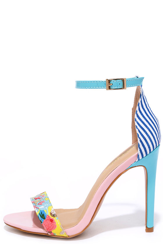 Pink And Blue Heels 7rGT4xmY