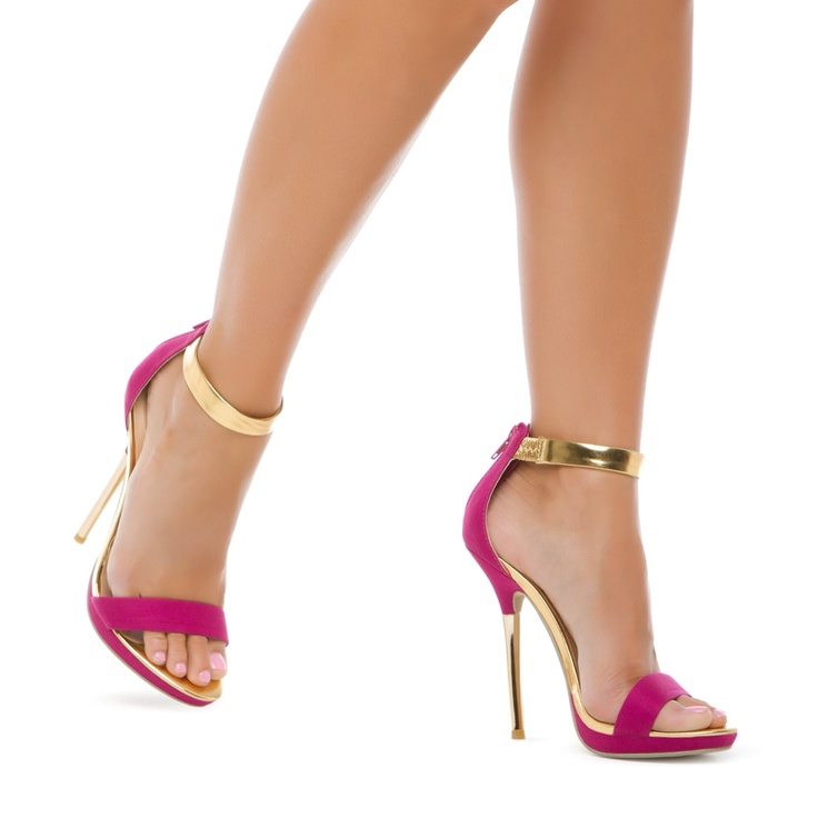 Pink And Gold Heels an7ekgis