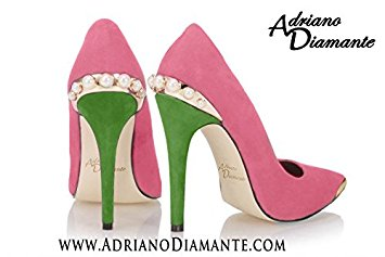 Pink And Green High Heels