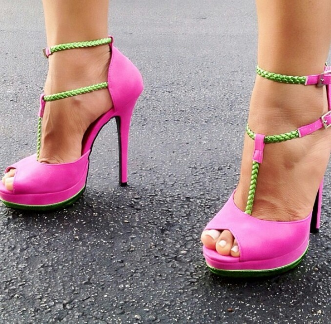 Pink And Green Heels Nnohe1Im