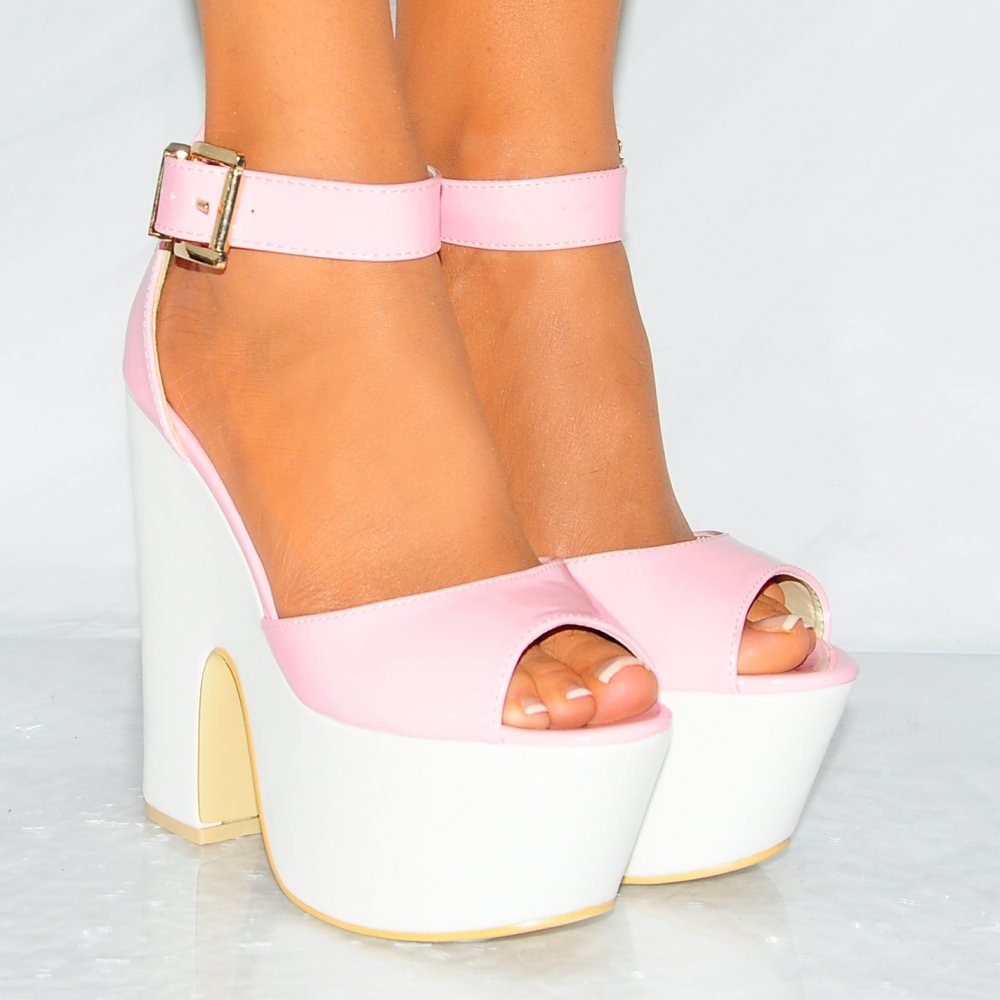 Pink And White Heels chHMYIVL