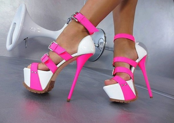 Pink And White Heels eSHyb9N8