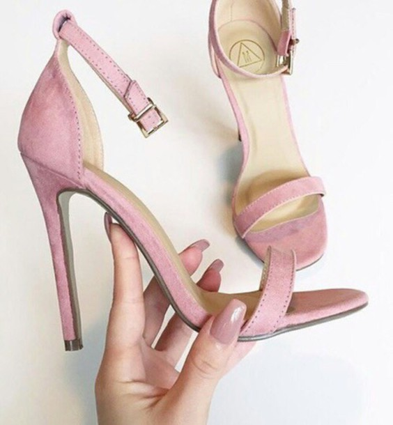 Pink High Heel Sandals hSwOSya4