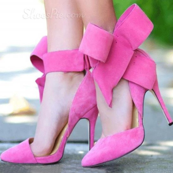 Pink High Heels With Bow 0qY0HXY0