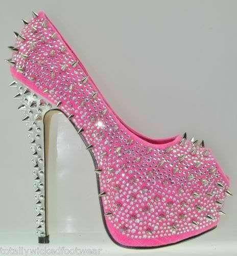 Pink Spiked Heels gevSxTTo
