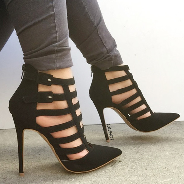 Pointed Strappy Heels eWRUSQJe