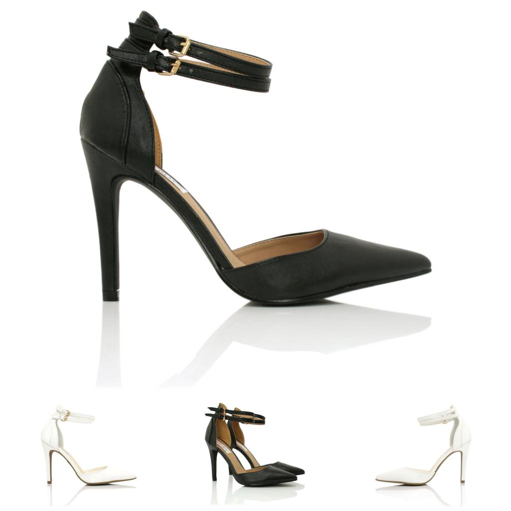 Pointed Toe Heels With Ankle Strap 9sBiKw8K