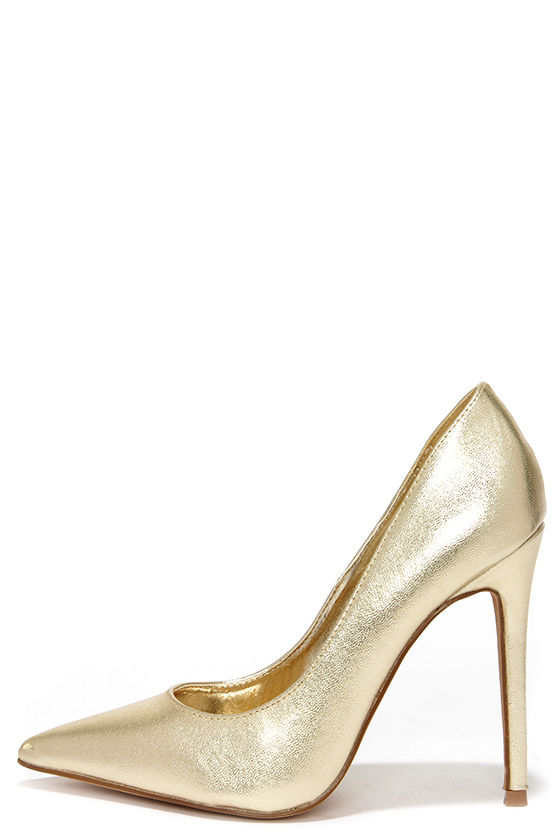 Pumps With Gold Heel R8ZaiQ64