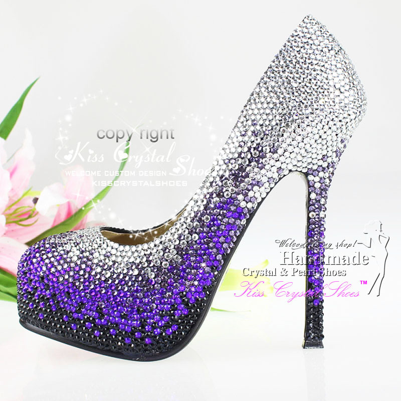 Purple And Silver Heels B2oQ8aS3