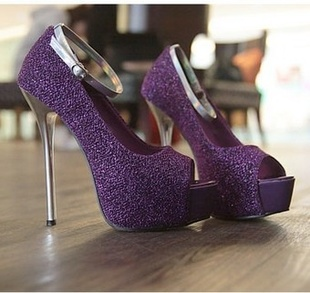 Purple And Silver Heels TifkIm3T