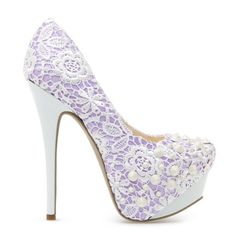 Purple And White Heels qK86mFrD