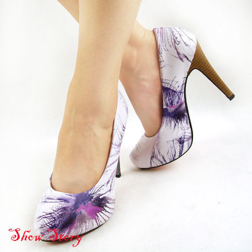Purple And White Heels MxV0woQC