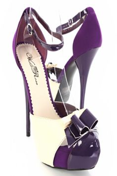 Purple And White Heels 2AeHmP6w