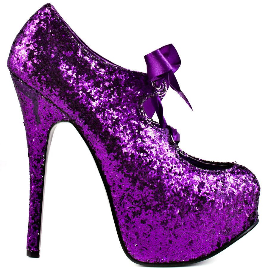 Purple Glitter High Heels dZIzxv7A