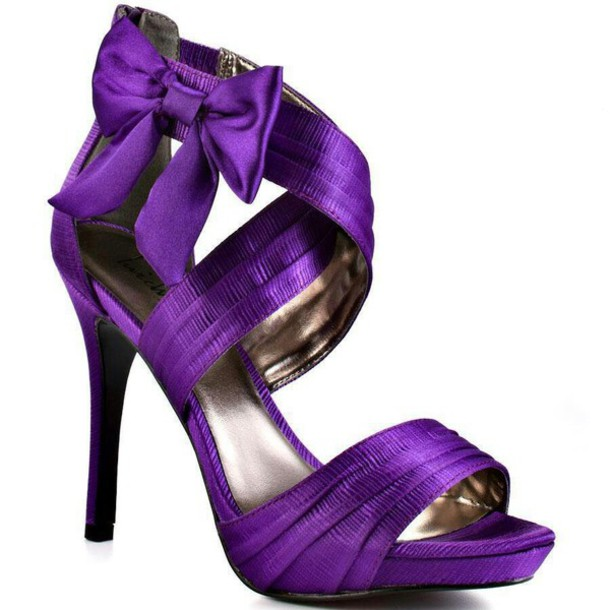 Purple Glitter High Heels zyi6xhWk