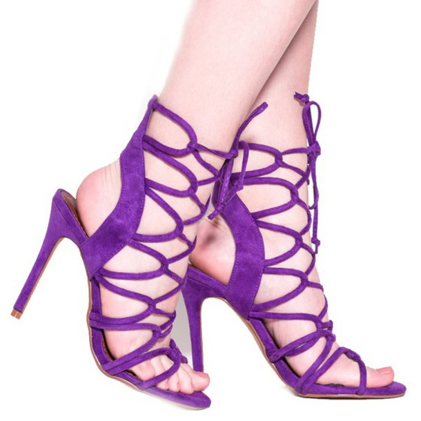 Purple Sandals Heels zCGWV2sP