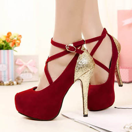 Red And Gold Heels M3BEf7Ap