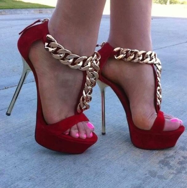 Red And Gold Heels aZQYOZde