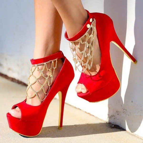 Red And Gold Heels YftikQIp