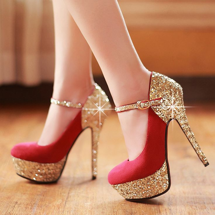 Red And Gold High Heels vWlg76JF