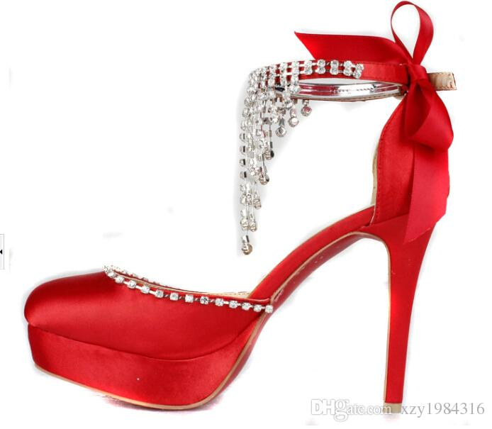 Red And White High Heels CnnGJd33