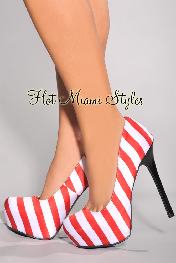 Red And White High Heels ILsqorCN