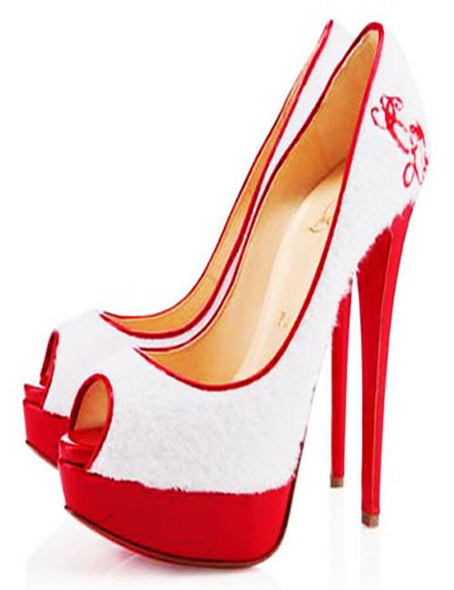 Red And White High Heels C1KWH1CE