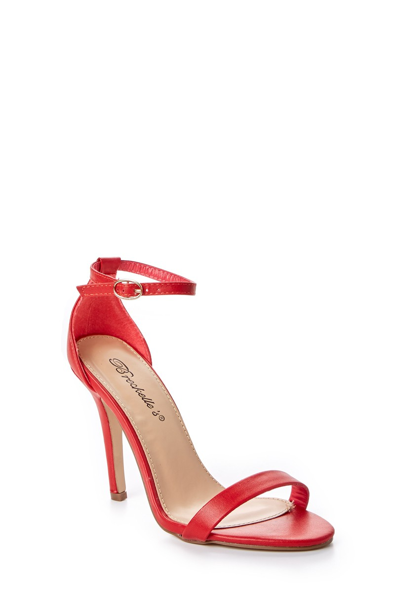 Red Ankle Strap Heels R8C871SG