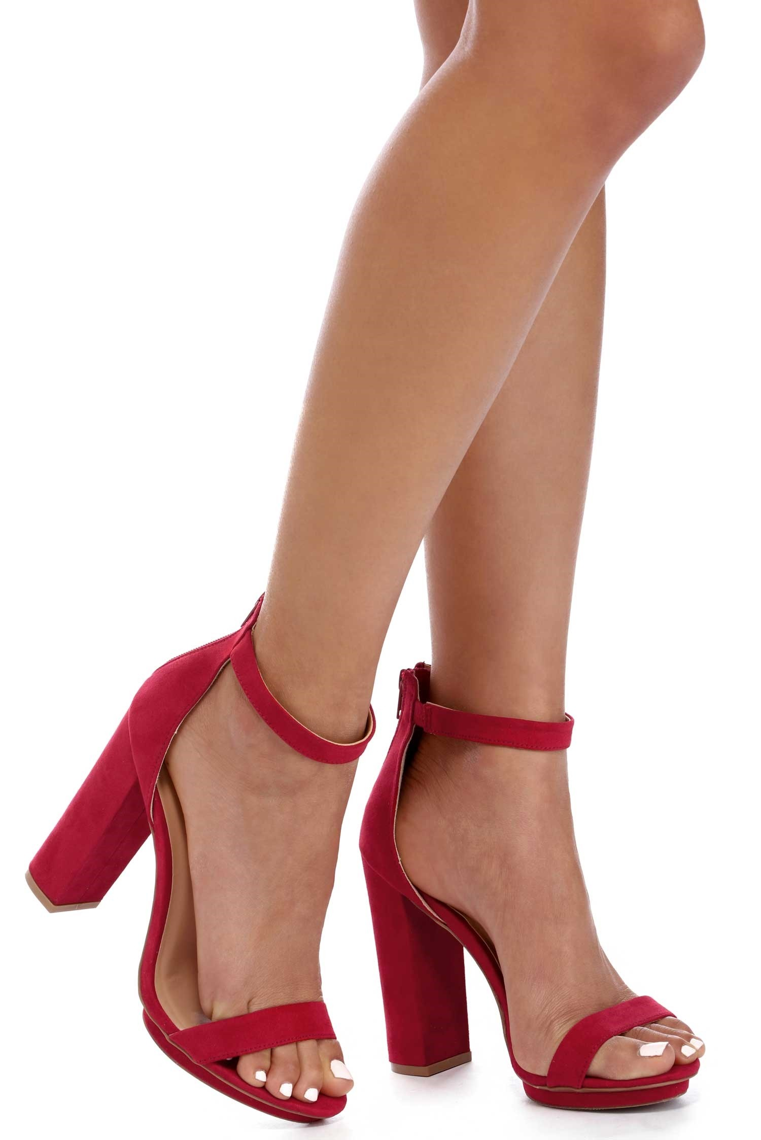 Red Block Heels 5CQX76MS