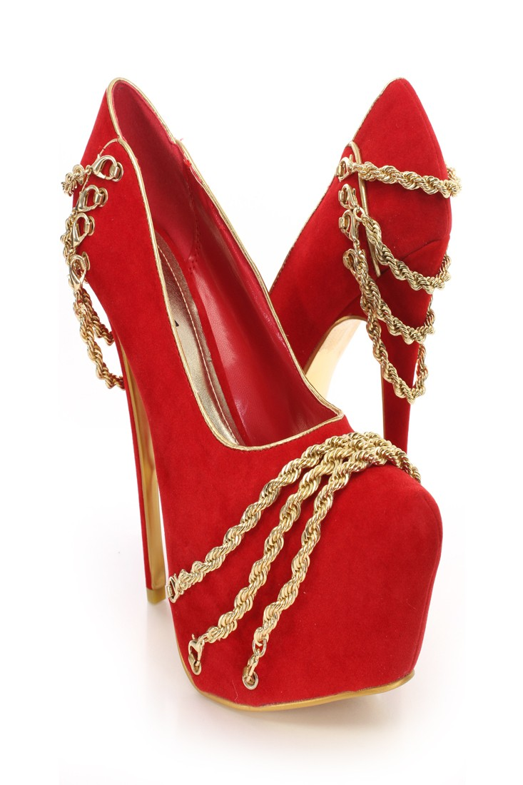 Red Cheap Heels mE950CAn