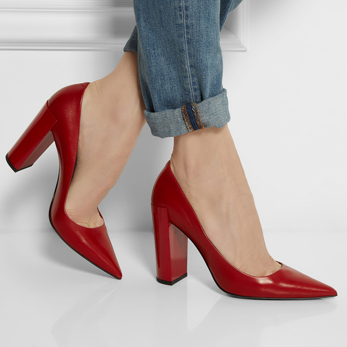 Red Chunky Heel Shoes cegF7Gj6