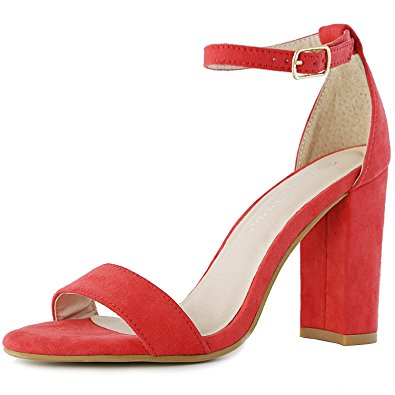 Red Chunky Heels yvpLCXcg