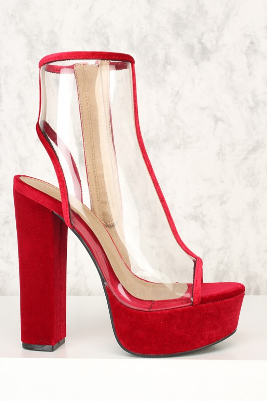 Red Chunky Heels iVk2tDxe