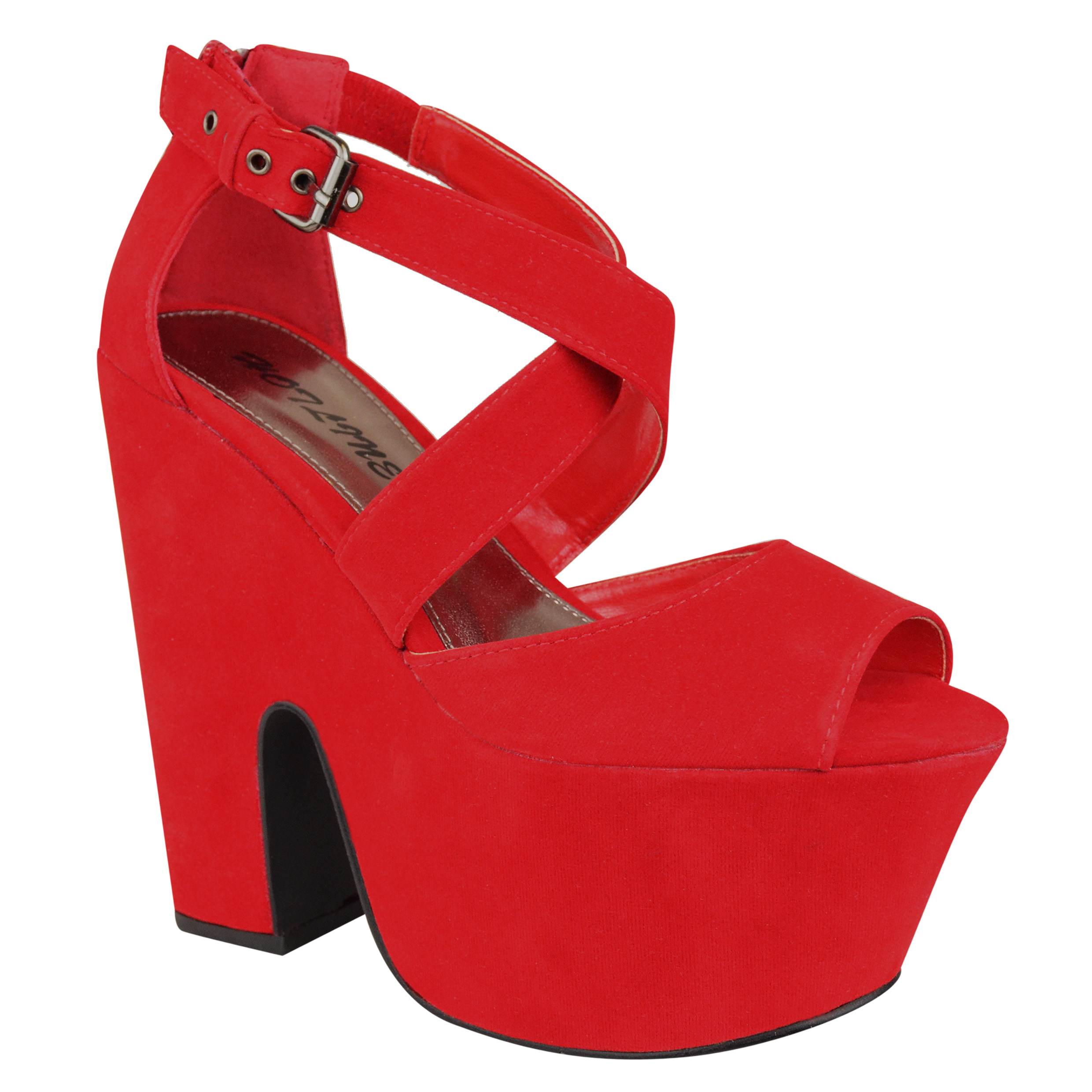 Red Chunky Platform Heels iy5AfzZK