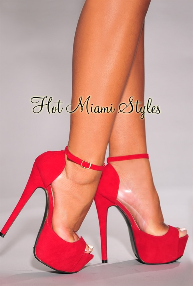 Red High Heels Open Toe A7TsO5n7