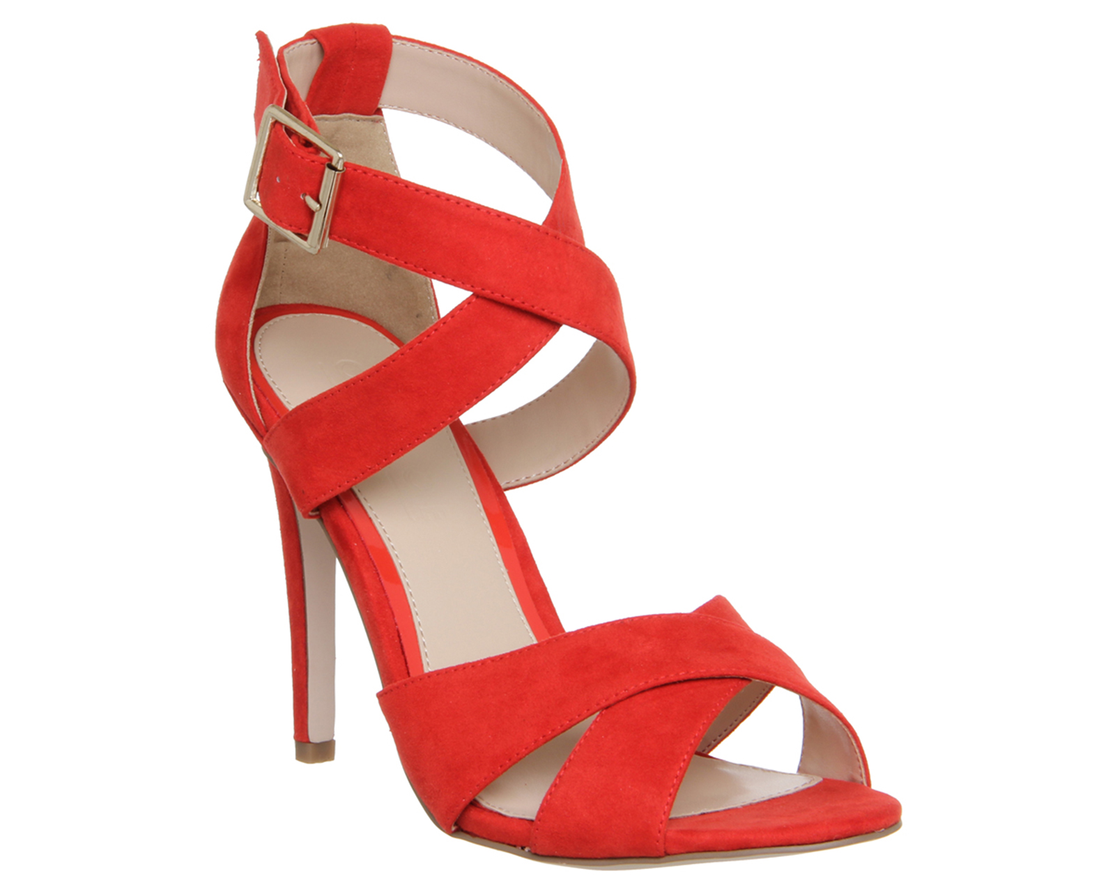 Red High Heels With Strap A92cylaU