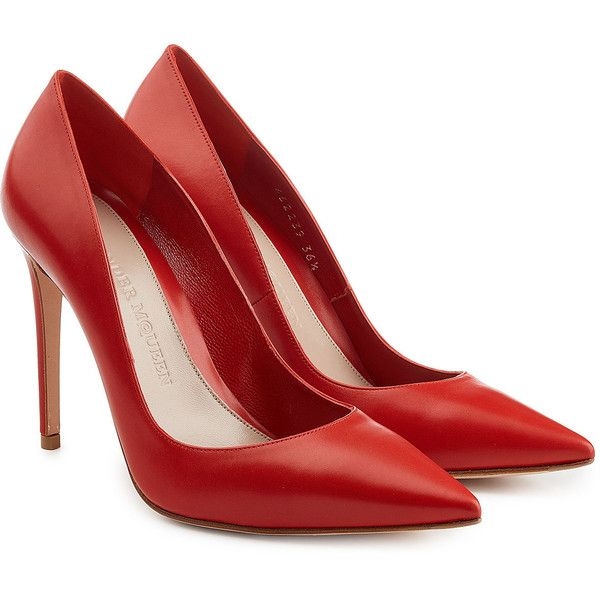 Red Leather High Heels JyNw8QD9