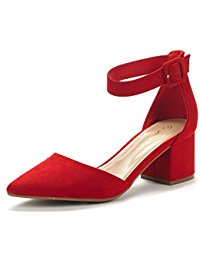 Red Low Heel Shoes QZ425k3S