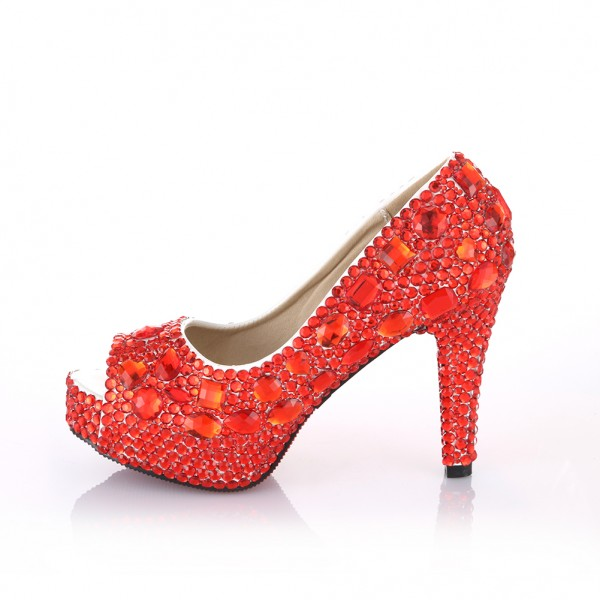 Red Sparkly High Heels RHoDPhfG