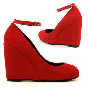 Red Wedge Heel Shoes sTfooyER