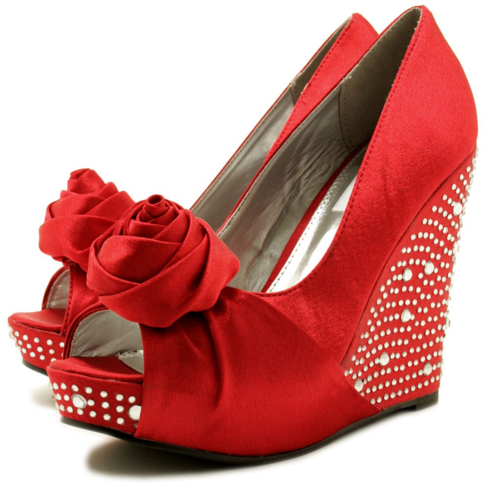 Red Wedge Heel Shoes t7dysnuk
