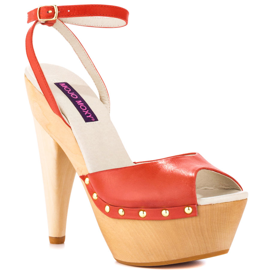 Red Wooden Heels YyCYSsZX