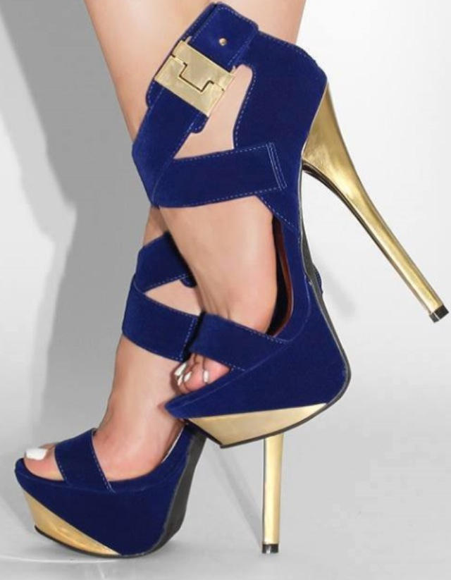 Royal Blue And Gold Heels HIkqYIO8