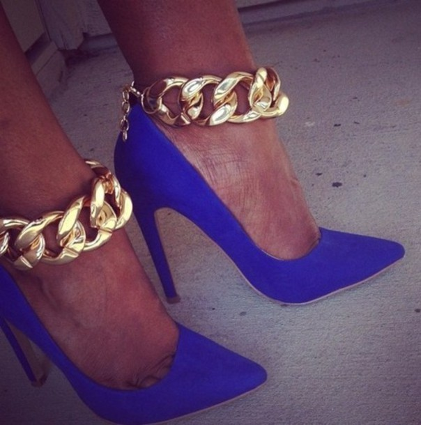 Royal Blue And Gold Heels 8b3SUhoe
