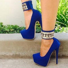 Royal Blue And Gold Heels LaiTKI0W