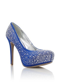 Royal Blue And Silver Heels 2phT8TD2