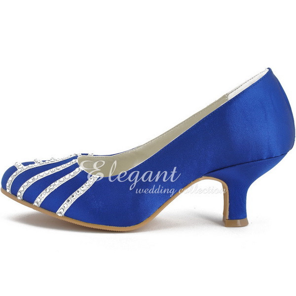 Royal Blue Low Heel Shoes c95CESeA